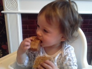 My 15 month old is loving the almond butter on toast for breakfast